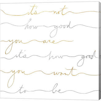 Braun How Good Silver and Gold by Lisa Powell Canvas Art