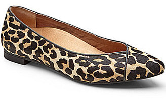 Vionic WALK.MOVE.LIVE Vionic® Caballo Leopard-Print Calf Hair Slip-On Pointed Toe Flats $119.99 thestylecure.com