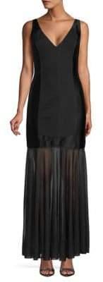 Halston Sleeveless Ponte Gown