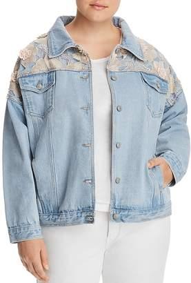 Glamorous CURVY Embellished Denim Jacket