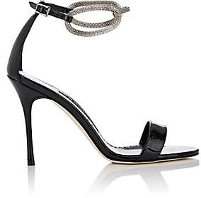 Manolo Blahnik Women's Annesaba Patent Leather Sandals - Black Patent