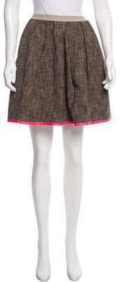 Hache Knit Mini Skirt