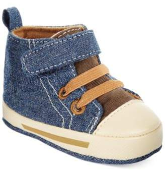 First Impressions High-Top Denim Sneakers, Baby Boys, Created for Macy's