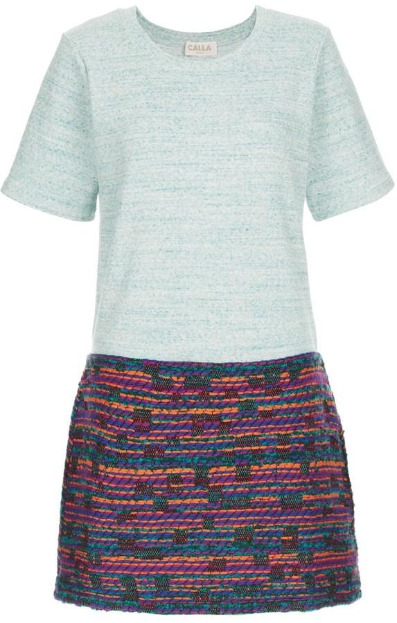 CALLA Tetris Tweed Jersey Dress