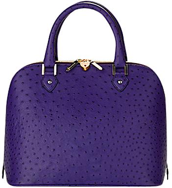 Aspinal of London Hepburn Grab Handbag, Purple Ostrich