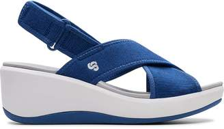 Clarks Cloudsteppers Step Cali Cove Wedge Sandals - Blue