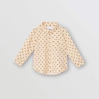 Burberry (バーバリー) - Burberry スタープリント コットンシャツ
