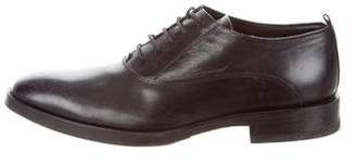 CNC Costume National Leather Round-Toe Oxfords