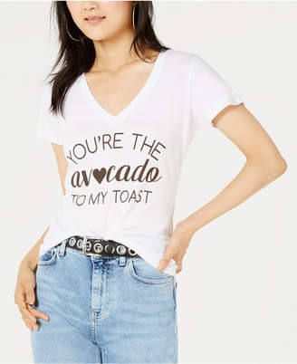 Love Tribe Juniors' Avocado Toast Graphic-Print T-Shirt
