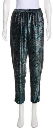 Giada Forte Velvet High-Rise Pants