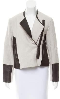 Helmut Lang Collarless Moto Jacket