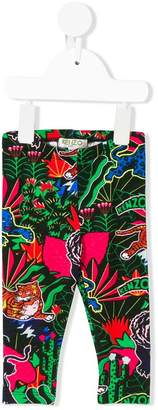 Kenzo jungle-print leggings
