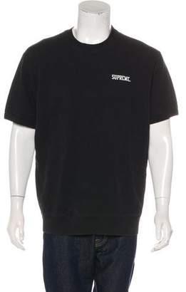 Supreme Short Sleeve Logo Crew Neck Sweater