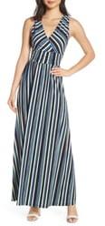 Leota Athena Stripe Sleeveless Maxi Dress
