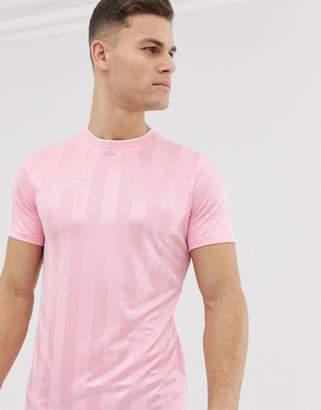 Nike Football academy stripe t-shirt in pink