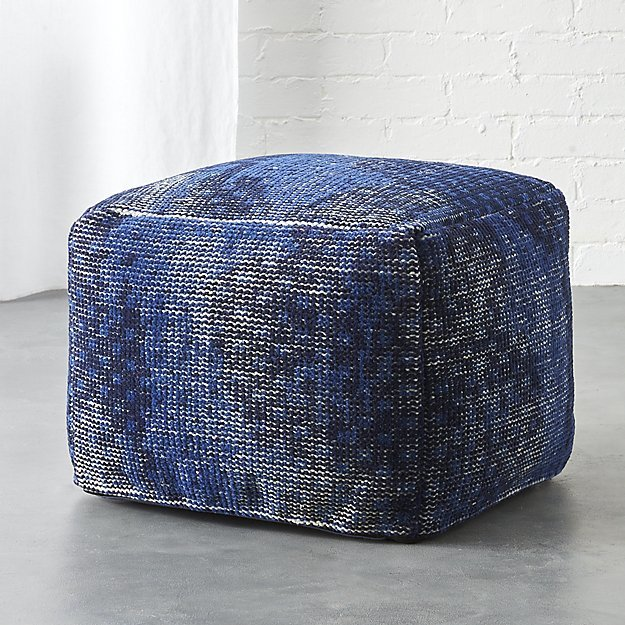 CB2The Hill-Side disintegrated floral print pouf