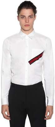 DSQUARED2 Printed Cotton Poplin Shirt