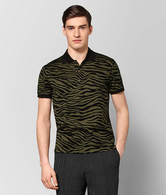 Bottega Veneta MUSTARD/NERO COTTON POLO