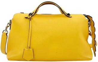 Fendi By The Way Yellow Leather Handbag
