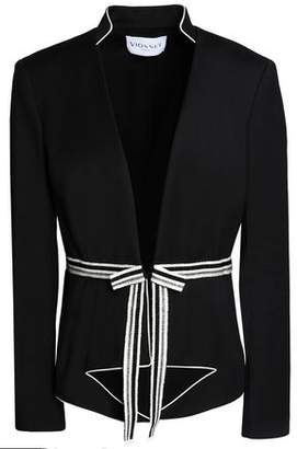 Vionnet Metallic Grosgrain-Trimmed Cotton-Blend Jacket