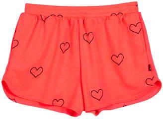 Terez Outline Hearts Foil-Print Shorts, Size 7-16