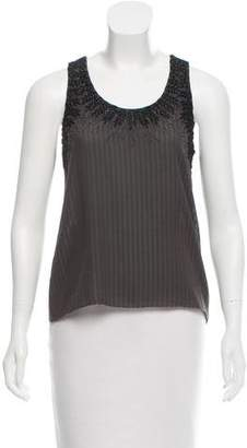 Proenza Schouler Sleeveless Embroidered Top