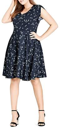 City Chic Sweet Tweet Floral Dress