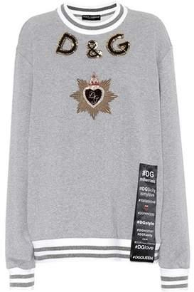 Dolce & Gabbana Embellished metallic sweater