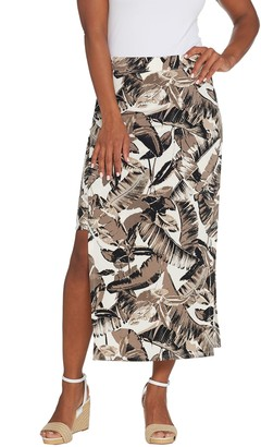 a0bcbc65b3 G.I.L.I. Got It Love It G.I.L.I. Jetsetter Petite Side Slit Maxi Skirt