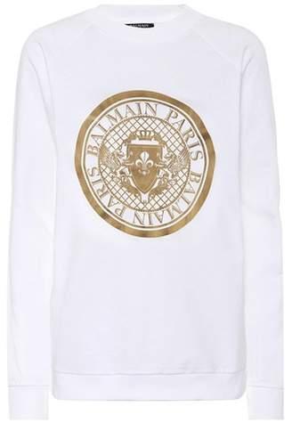 Sweatshirt aus Baumwolle mit Medaillon-Logo