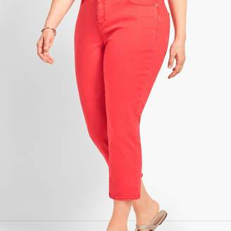 Talbots Garment-Dyed Colored Denim Straight Leg Crop