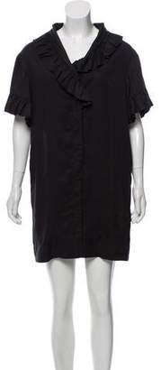 Ganni Mini Short Sleeve Dress