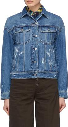 Acne Studios Lamp' Paint splatter denim jacket