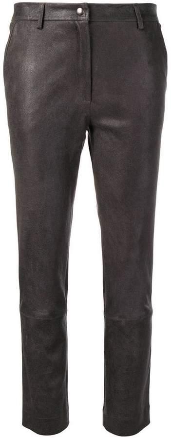 Gentry Portofino slim leather trousers