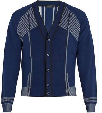 Prada V-neck raglan-sleeve cardigan