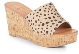 Dolce Vita Barta Leopard Wedge Sandals