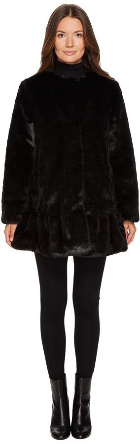 Kate Spade New York - Faux Mink Fur Jacket Women's Coat