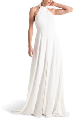Joanna August Courtney Halter Wedding Dress