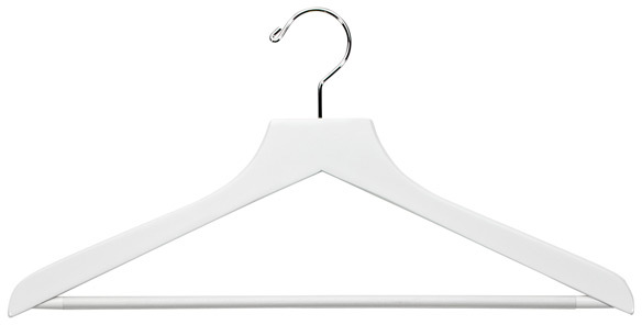 Container Store Basic Shirt Hanger with Ribbed Bar White Pkg/6