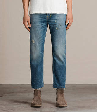 AllSaints Ildham Sid Straight Cropped Jeans