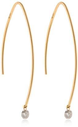 0.14ctw Diamonds Long Drop Earrings