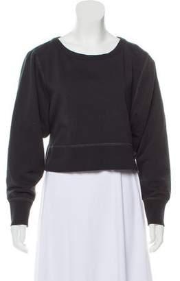 Rag & Bone Long Sleeve Cropped Sweatshirt
