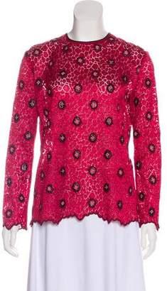 Louis Vuitton Lace Long Sleeve Top