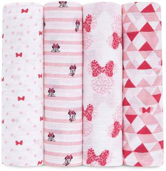 Disney Disney's Minnie Mouse 4-pk. Swaddling Wraps from aden by aden + anais