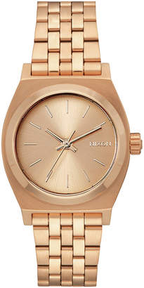 Nixon Women Medium Time Teller Stainless Steel Bracelet Watch 31mm
