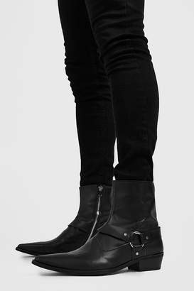 boohoo Harness Detail Western Boot