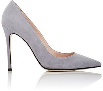 Barneys New York Women's Pointed-Toe Pumps-GREY $295 thestylecure.com