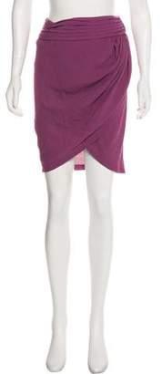 Elizabeth and James Asymmetrical Textured Skirt