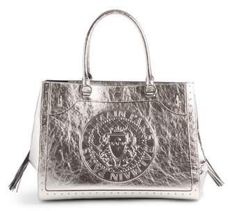 Balmain Renaissance Metallic Leather Tote