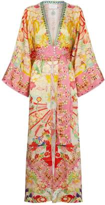 Camilla Silk Kimono Kiss Robe